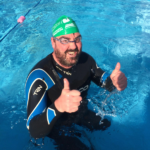 Phil Anthony braves a cold outdoor swimathon for JSF