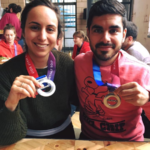Robbie and Fiona complete the Hackney Half Marathon